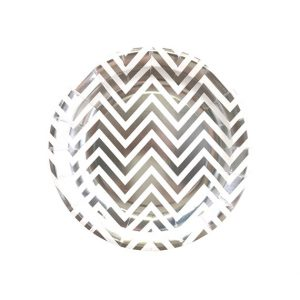 Chevron Round Plates