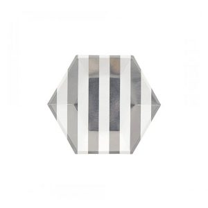 Stripe Hexagon Plates