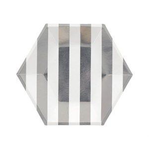 Stripe Hexagon Plates