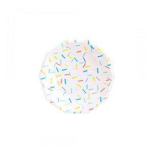 Sprinkles Polygon Plates
