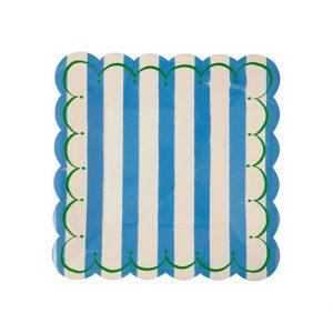Octagon Party Tableware Setoutline Square Plates