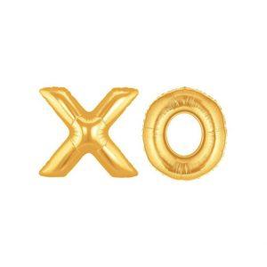 XO Gold Foil Balloons