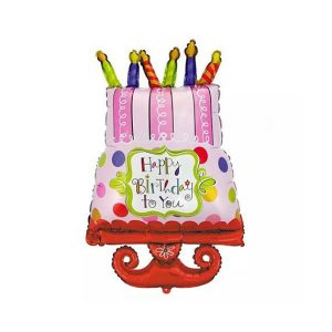 Happy Birthday To You Cake Foil Balloon