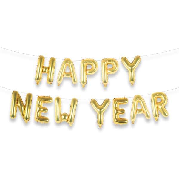 New Year Foil Balloon Banner