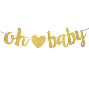 Oh Baby Gold Glittering Garland