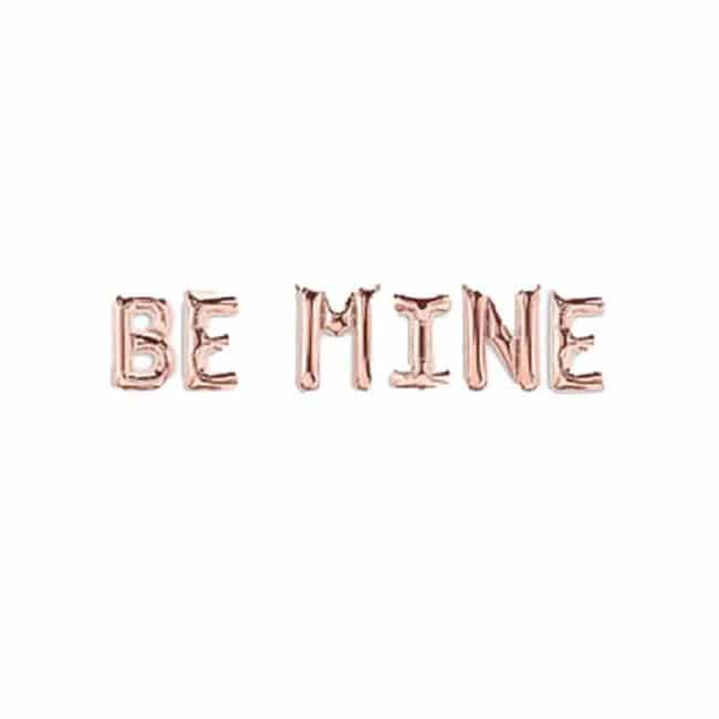 Be Mine Rose Gold Foil Balloon Banner
