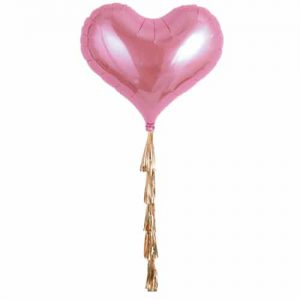 Giant Pink Heart Foil Balloon