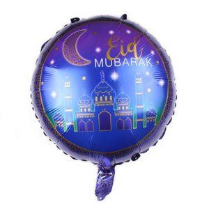 Eid Mubarak Blue Foil Balloon