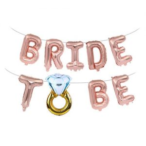 Bride to Be Rose Gold Foil Balloon Banner