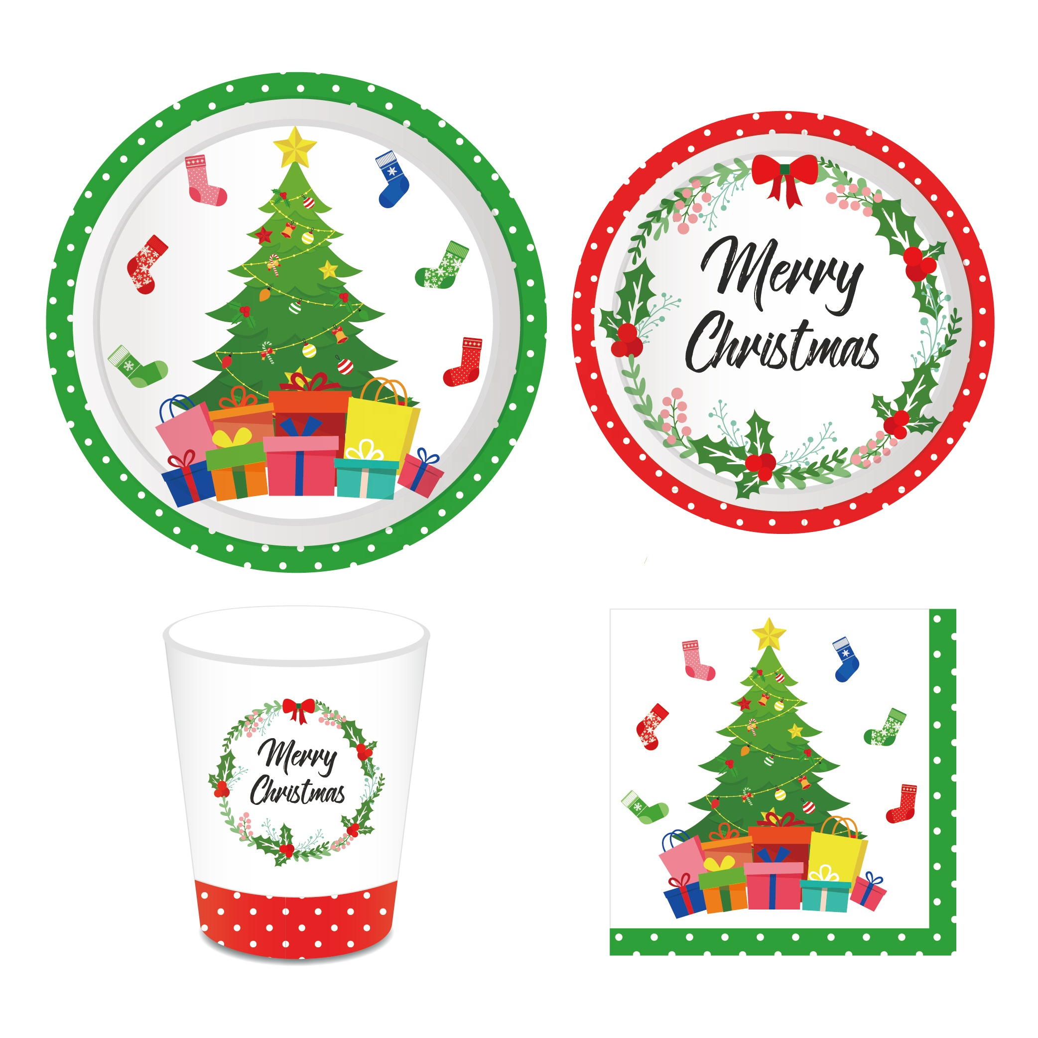 Merry Christmas Party Tableware set