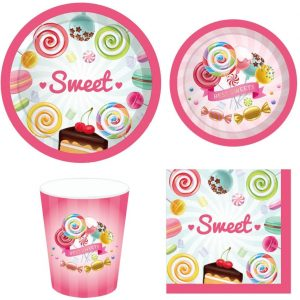 Candyland Themed Party Tableware Set
