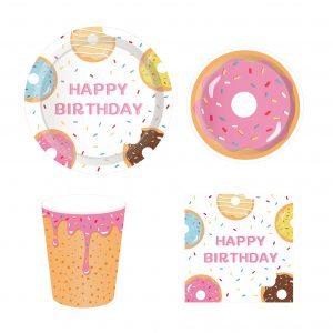 Donut Party Tableware Set