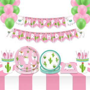 Llama Theme birthday Party
