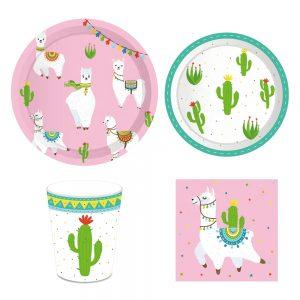 Llama Party Tableware Set