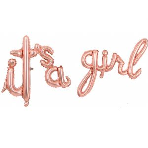 It's a girl script handwritten foil balloons