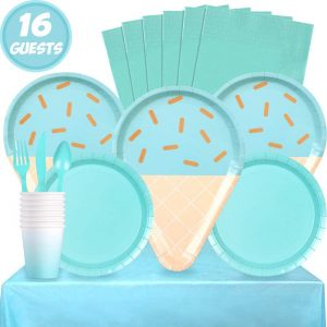 Ice Cream Party Tableware Set Blue