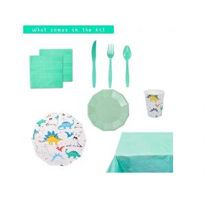 Dino themed Party Tableware Set