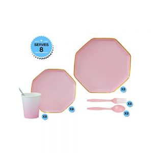 Octagon Party Tableware Set