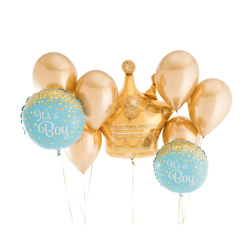 It's a Boy golden foil balloon Set