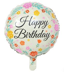 Floral Happy Birthday Printed Balloon