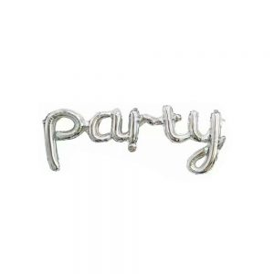Script Party Foil Balloons