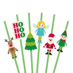 Christmas Themed Santa Party Straws