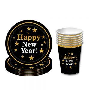 new year tableware set