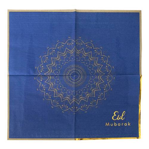 Blue and gold eid napkin 1