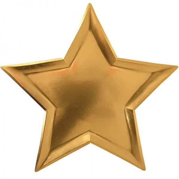 Star Shaped Gold Plates