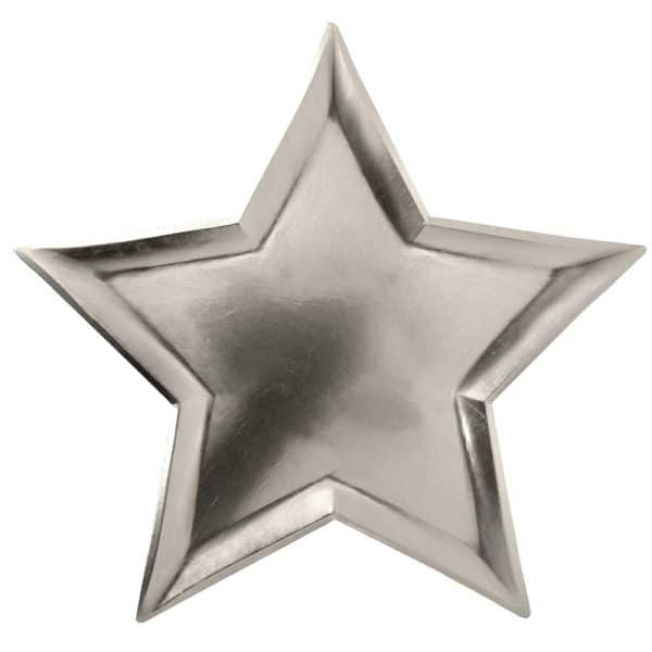 Star Shaped Silver Plates
