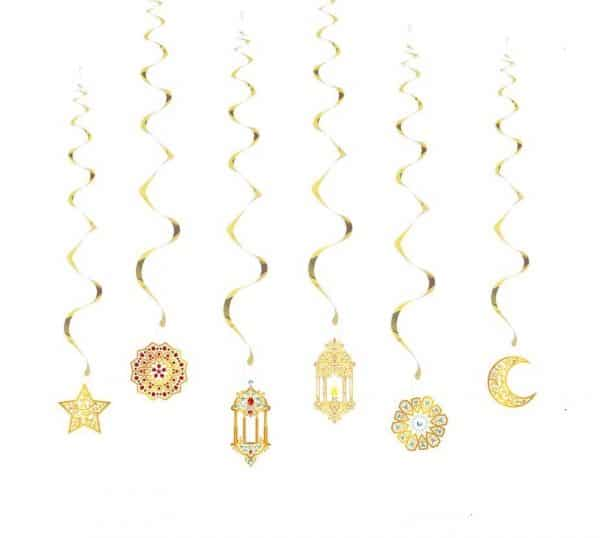 Ramadan themed Hanging Swirls