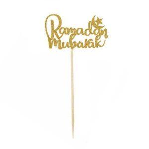 Ramadan Mubarak Cupcake Topper