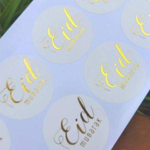 eid round sticker