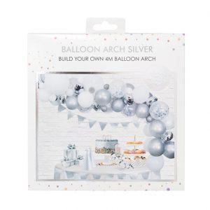 Silver Balloon Arch Garland
