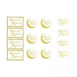 Gold Ramadan Mubarak Gift Stickers