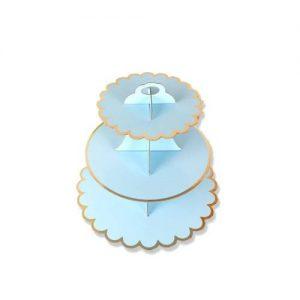 Blue cupcake stand 01