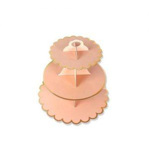 Peach cupcake stand 01