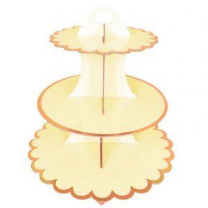 Yellow cupcake stand 01