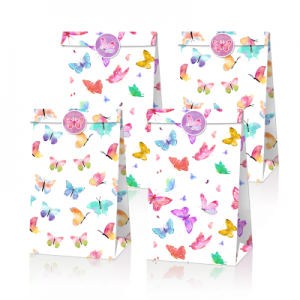 Spring Butterfly Party Favor Bags