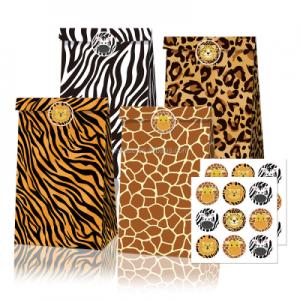 Leopard print party favor bags