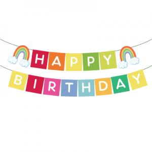 Rainbow Birthday Banner