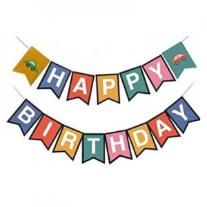 Car Happy Birthday Banner