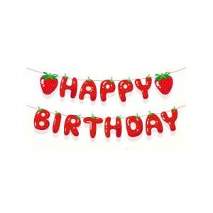 Strawberry Birthday Banner