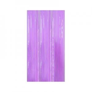 foil curtain pastel purple