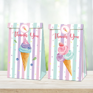 Ice cream Party Bags