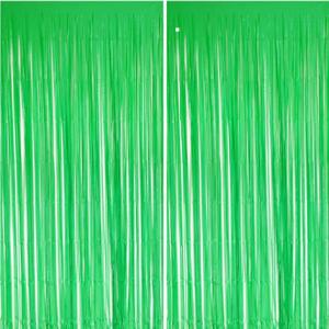 foil curtain matte green