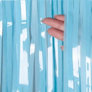 foil curtain matte blue