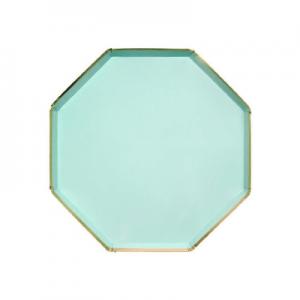 Blue ocatgon plate