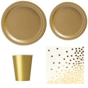 Gold tableware set