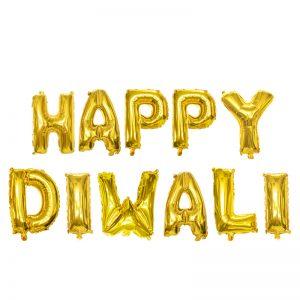Diwali Foil Balloon banner